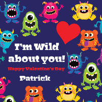 Monster Bunch Valentine's Stickers