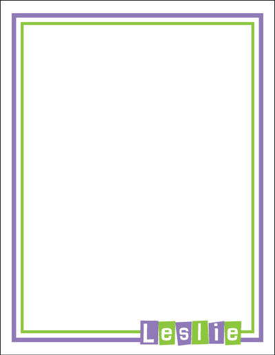 Letter Shapes White Large Notepad