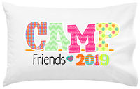 Camp Friends Girl UNPERSONALIZED Pillowcase