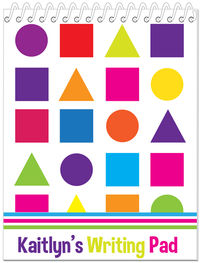 Colored Shapes Penmanship Book