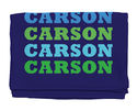 Name In Brights Navy Beach Towel