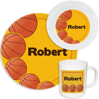 Basketball Fan Melamine Set
