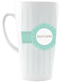 Minted Stripes Ceramic Coffee Mug