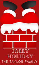 Santa Chimney Holiday Gift Sticker