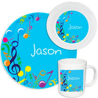 Bright Notes Aqua Melamine Set