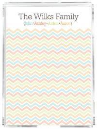 Chevron Family Memo Sheets