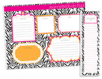 Hot Zebra To Do Pad Set