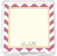 Mauve Chevron Mini Memo Sheets