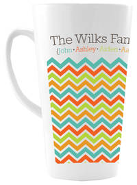 Chevron Family Ceramic Coffee Mug