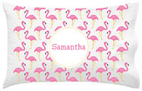 Fancy Flamingos Pillowcase