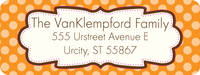 Chocolate Orange Frame Return Address Label