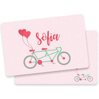 Bicycle For Two Valentine Placemat