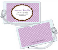 Scallop Frame Lavender Luggage Tag