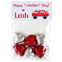 Heart Wagon Valentine Candy Bag Toppers