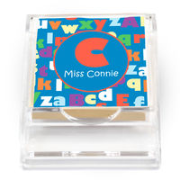 ABC Sticky Note Holder