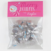 Santa Snowgirl Candy Bag Toppers