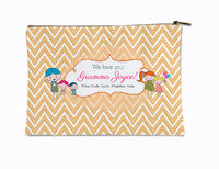 Drawn Chevron Kids Small Accessory Flat Pouch