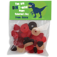 Dino Valentines Candy Bag Toppers