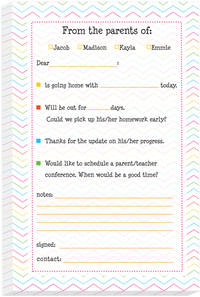 Fun Chevron Excuse Pad