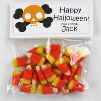 Skull and Bones Candy Bag Toppers