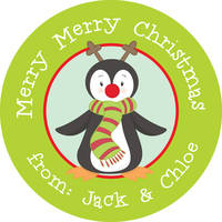 Red Nose Penguin Gift Stickers