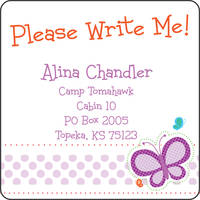 Dotted Butterfly Calling Card