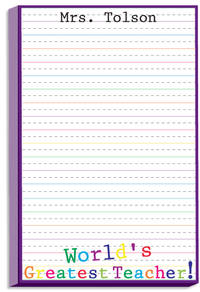 Greatest Teacher Notepad