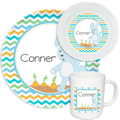 Carrot Boy Melamine Set  sc 1 st  Script and Scribble : personalized plastic plates for kids - pezcame.com