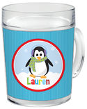 Penguin Girl Clear Acrylic Mug