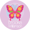 Pink Butterfly Stickers