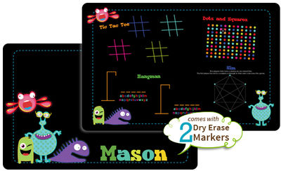 Cute Monsters Dry Erase Placemat
