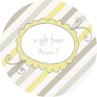 Grey Diagonals Gift Stickers