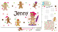 Gingerbread Dots Girl Dry Erase Placemat