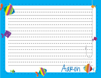 Fish Writing Pad Personalized Kindergarten Pad Custom