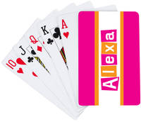 Letter Shapes Fuchsia Playing Cards
