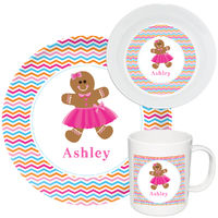 Sweet Ginger Girl Melamine Set