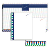 Checkered Blue Multi Pad Set