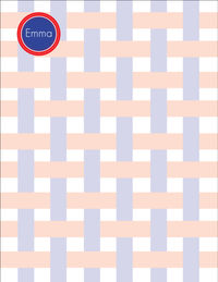 Americana Stripes Large Notepad