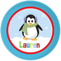 Penguin Girl Plate