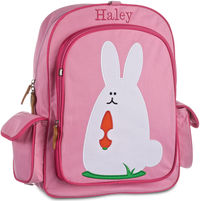Funny Bunny Large Embroidered Backpack