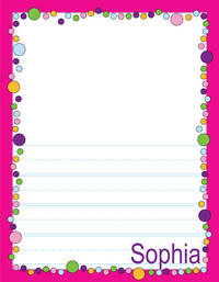 Bubbles Girl Kindergarten Drawing Pad