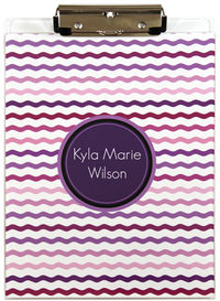 Purple Hued Waves Acrylic Clipboard