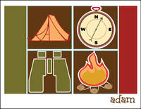 Camp Retro Icons Foldover Card