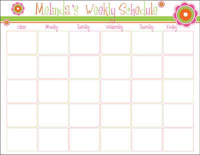 Customizable homework calendar