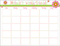Dotted Flowers Homework Chart