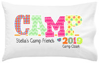 Camp Friends Girl Pillowcase