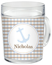 Blue Anchor Clear Acrylic Mug