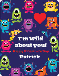 Monster Bunch Valentine's Card