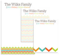 Fall Chevron Family Pad Set
