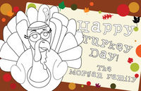 Color Me Turkey Paper Placemats